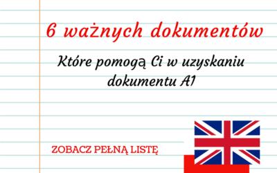 Chcę otrzymać druk A1 z Wielkiej Brytanii – O jakie dokumenty może poprosić HMRC?